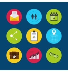 Set of modern flat design concept icons vector