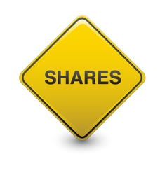 share warning vector image vector image