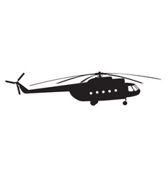 silhouette of a chopper vector image