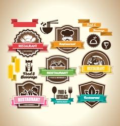 Vintage restaurant logo vector