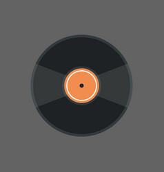 vinyl disk icon audio record retro concept vector image
