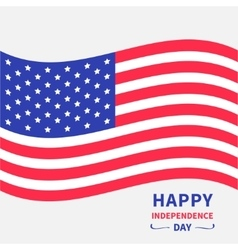 Waving American flag Happy independence day vector image