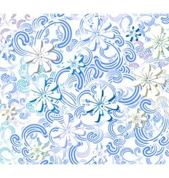 winter flowers background vector image vector image