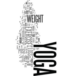 yoga exercise for weight loss does it work text vector image