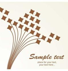 Retro floral vintage background pattern vector image