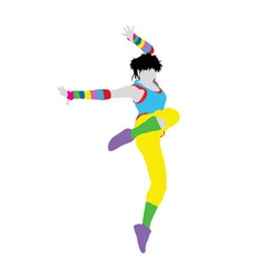 Happy dancer silhouette vector