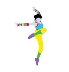 Happy dancer silhouette vector