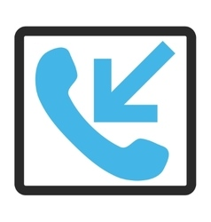 Incoming call framed icon vector