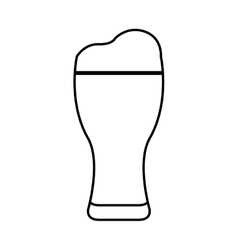 Ice beer glass isolated icon vector