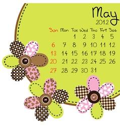 2012 may calendar vector image