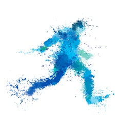 Man run splash vector