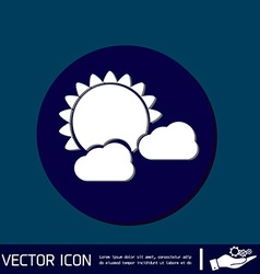 Weather icon sun behind the cloud vector