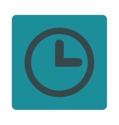 Clock flat soft blue colors rounded button vector