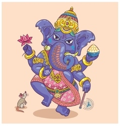 Indian god ganesha vector