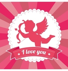 Valentines day lovely card graphic design vector