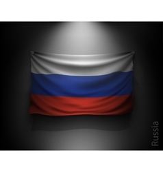 Waving flag russia on a dark wall vector