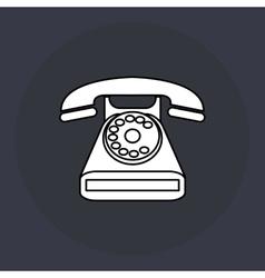 Phone design retro icon colorful vector