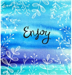 Abstract blue watercolor splashes with white vector image vector image