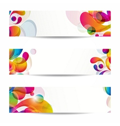 Abstract web banners with colorful arc-drop for vector image