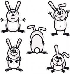 Bunny icons vector