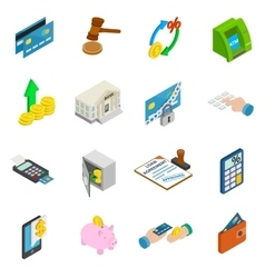 Credit icons set vector image vector image