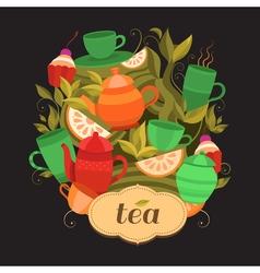 Design tea packaging vector
