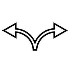 Divide arrow left right outline icon vector