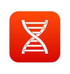 dna icon digital red vector image vector image