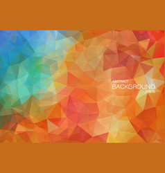 Flat vitage color background with triangle shapes vector