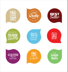 Modern badges colorful collection 4 vector