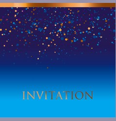 new year gold and blue star background vector image vector image