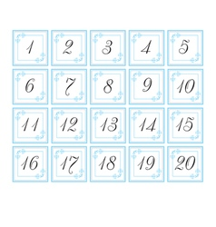 Number cards vector image vector image