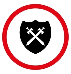 Security Shield Flat Rounded Icon vector image vector image
