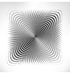 silver circle of halftone vector image vector image