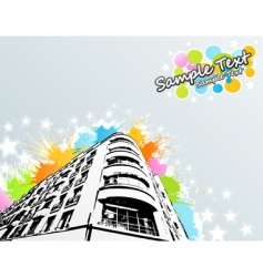 splats city building vector image vector image