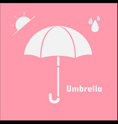 Umbrella icon isolated on pink background umbrell vector