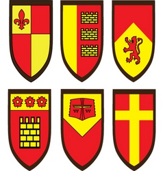 various shield designs vector image