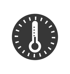 Thermometer temperature science glass icon vector