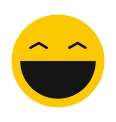 Laughing smiley icon flat style vector