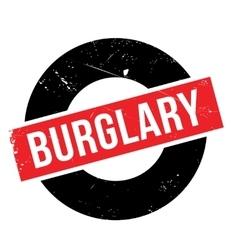 Burglary rubber stamp vector image