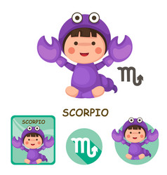 Scorpio collection zodiac signs vector