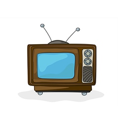 Retro style tv vector
