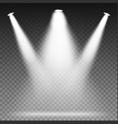 White beam lights spotlights scene light vector