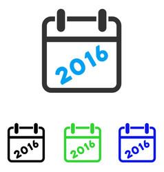 2016 calendar flat icon vector