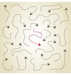 Arrows the sketch vector image