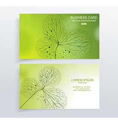 Abstract green colorful business card vector