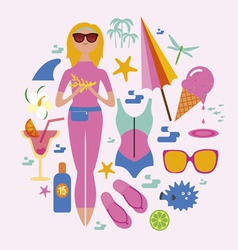 Fashionable holidays set vector