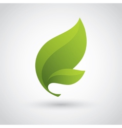 Green leaf icon vector