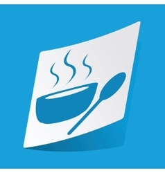 Hot soup sticker vector