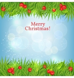 Background with christmas holly vector
